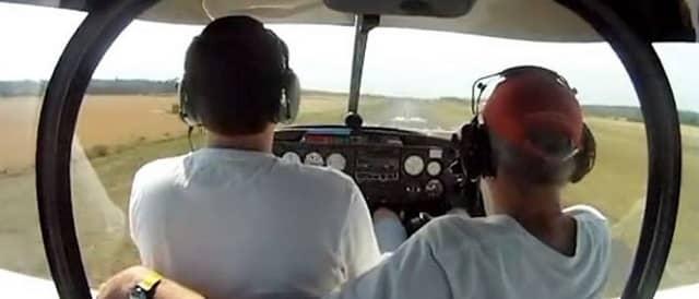 Activité vol d'initiation au pilotage avion