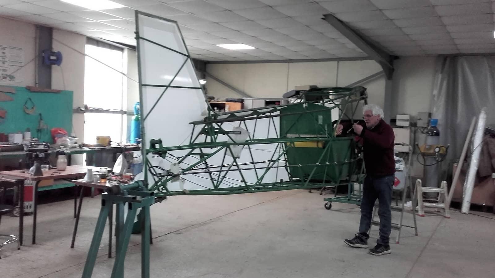 L'atelier de l'aéroclub Jean Bertin