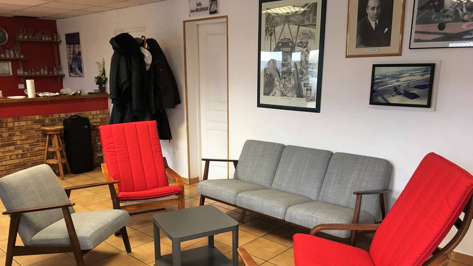Le club house de l'aéroclub Jean Bertin